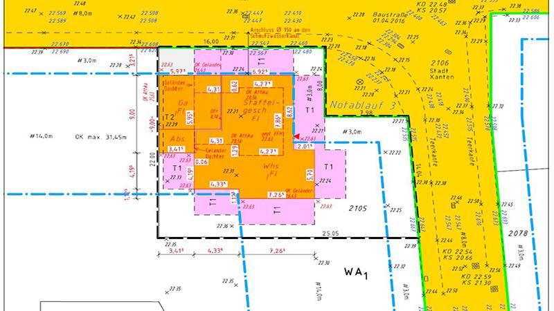 Amtlicher Lageplan - Bauantrag - Teilung - Baulast - Vermessungsbüro Wolfram Reinhardt - Duisburg - NRW